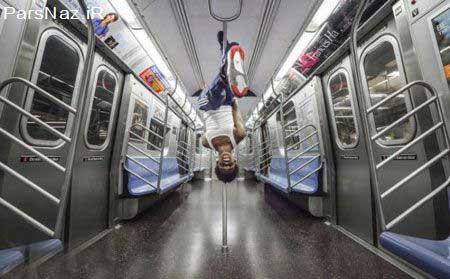 رقص و هیجان در مترو (عکس)