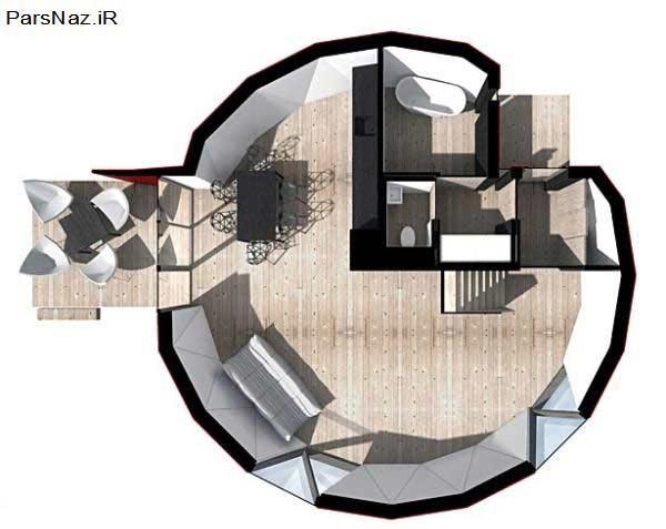 خانه هایی که مثل صندلی تاشو هستند (عکس)