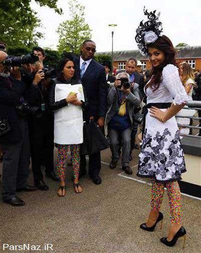 آیشواریا رای با لباسی جنجالی در بریتانیا