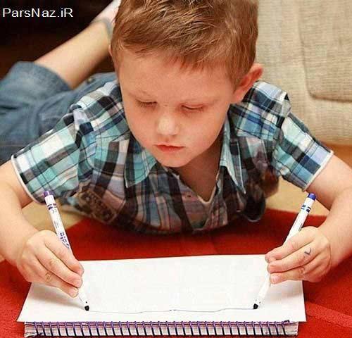 دستهای آیینه ای یک پسر 4 ساله (عکس)