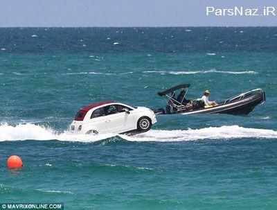 با اتومبیل به دل دریا بروید (عکس)