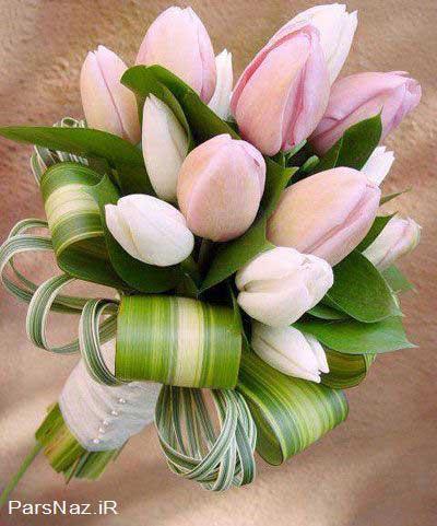 دسته گل های ساده و زیبا مخصوص عروس خانم ها (عکس)