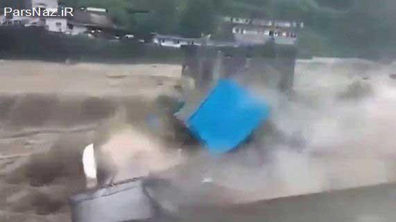 لحظات سرگردانی و غرق شدن یک مرد نگون بخت  (عکس)