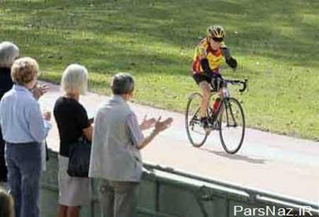 هیچ جوانی رقیب این پیرمرد 100 ساله نمی شود