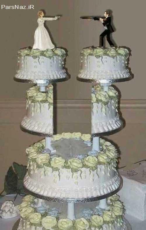 کیک های عروسی زیبا و خلاقانه (عکس)