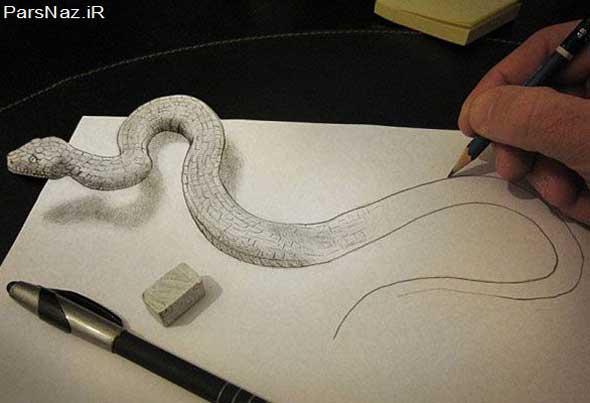 نقاشی های حیرت انگیز با حس سه بعدی (عکس)