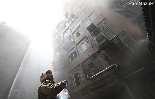 آتش سوزی در خیابان جمهوری و مرگ سه کارگر (عکس)