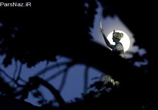 تا به حال ماه به این عظمت دیده بودید؟