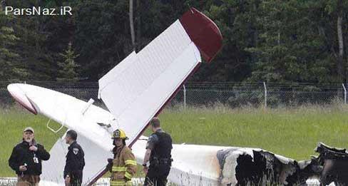 سقوط یک فروند هواپیمای کوچک درآلاسکا (عکس)