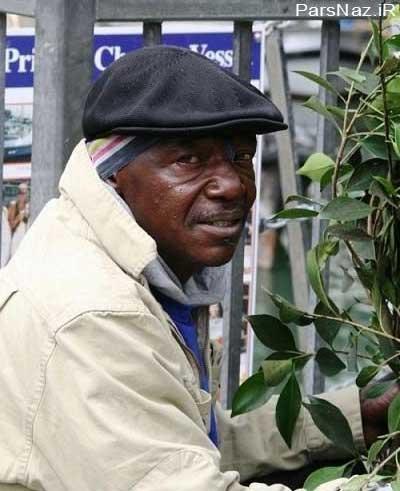 مرد بی خانمانی که باعث ترس مردم می شود (عکس)