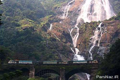 شگفت انگیز ترین مکان ها برای عبور قطار (عکس)