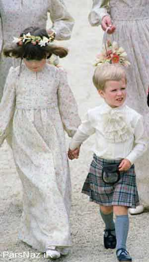 چگونگی مدل لباس کودکان سلطنتی (عکس)