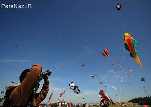 فستیوال بسیار مهیج و زیبای  بادبادکها (عکس)