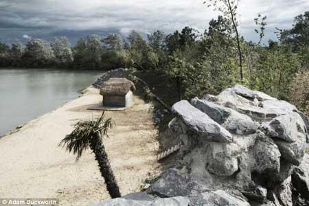 جزیره گنج متعلق به یک مرد انگلیسی (عکس)