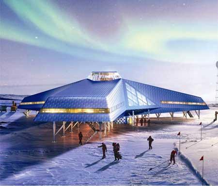 نمایش سازههای انسانی در قطب جنوب (عکس)