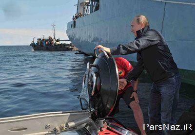 پوتین به زیر آب رفت (عکس)