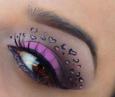 سایه های چشم عجیب و جالب (عکس)