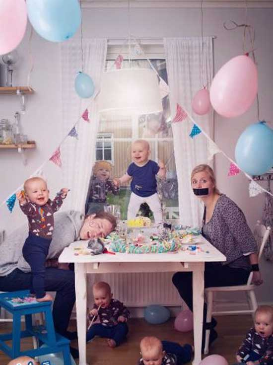 عکس های جالب از خلاقیت پدر و مادر