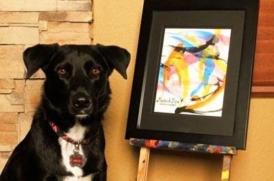 نقاشی های باور نکردنی یک سگ (عکس)