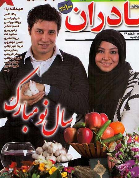 عکس دیدنی از جواد عزتی در کنار همسرش