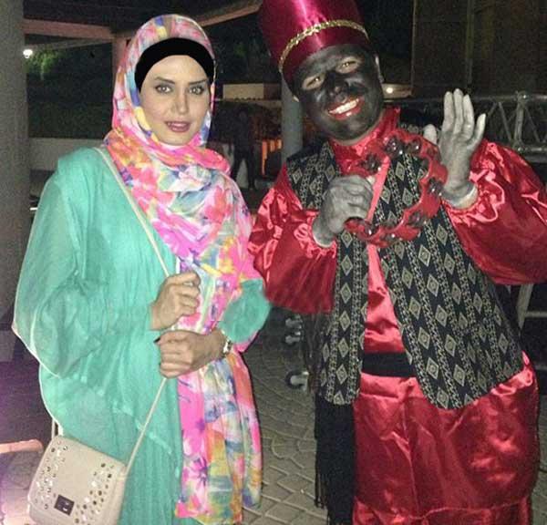 عکس دیده نشده و دیدنی از حاجی فیروز در کنار الناز شاکر دوست