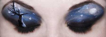 سایه های چشم عجیب و غریب اما خلاقانه (عکس)