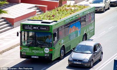 ایده جالب و دیدنی برای باغچه روی اتوبوس (عکس)