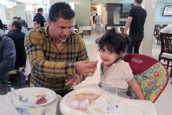 عکس جدید و دیده نشده از علی دایی و دخترش نورا