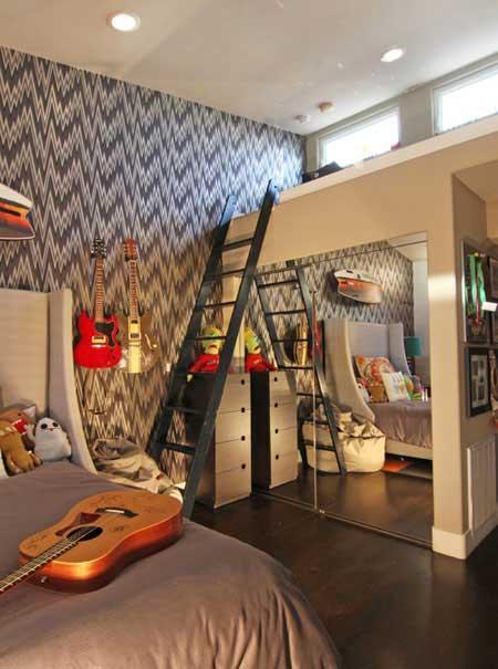 دکوراسیونی شیک و مدرن مخصوص اتاق کودکان و نوجوانان