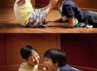 کودک معلول سرشار از مهر و محبت (عکس)