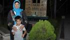 عکس دیده نشده از سیما تیرانداز در کنار پسرش