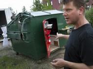 سطل زباله ای که تبدیل به آپارتمان شد (عکس)
