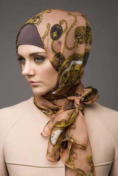 منحصر بفرد ترین مدل بستن شال و روسری 92