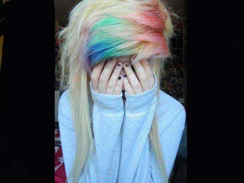 رنگ موهای عجیب و ترکیبی