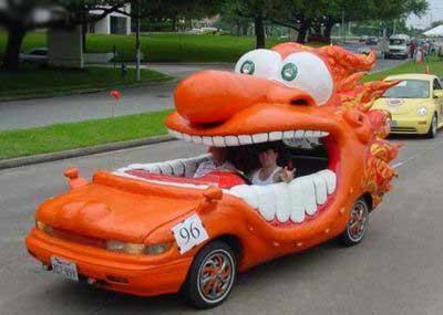 ماشین های ترسناک و عجیب (عکس)