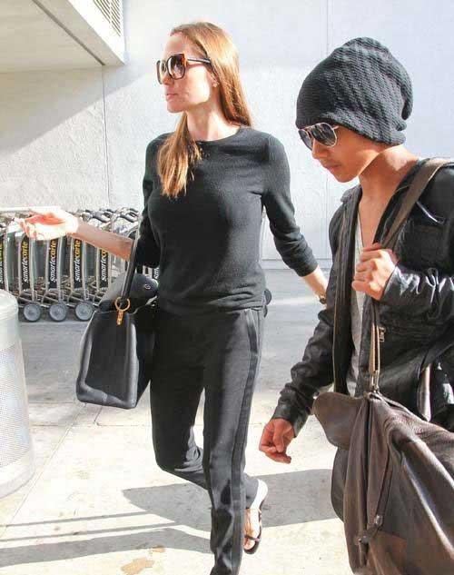 تصاویر جدید انتشار شده از آنجلینا جولی و پسرش مادوکس
