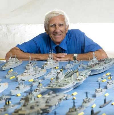 ساخت ناوگان جنگی با کبریت (عکس)