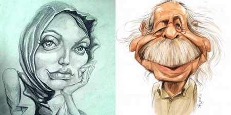 کاریکاتور خنده دار بازیگران ایرانی