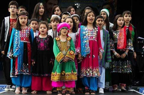 تصاویری از جشن منتخب افغانی ها در لندن