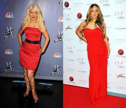 مقایسه های عجیب کریستینا اگویلرا  و ماریا کری (عکس)