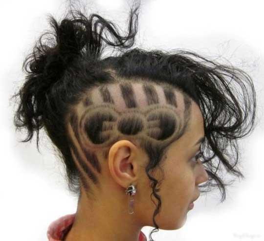 عکس مدل موهای مسخره و عجیب