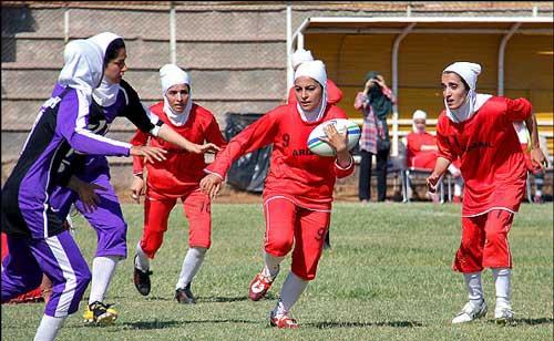 مسابقات لیگ برتر راگبی بانوان کشور (عکس)