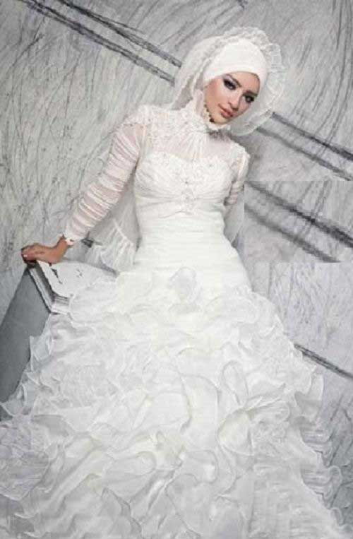مدل های جالب لباس عروس باحجاب در سال 98