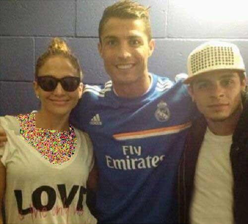 عکس های جنیفر لوپز و نامزدش در کنار تیم رئال مادرید