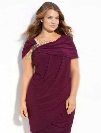 لباس شب و مجلسی مخصوص خانم های سایز بالا