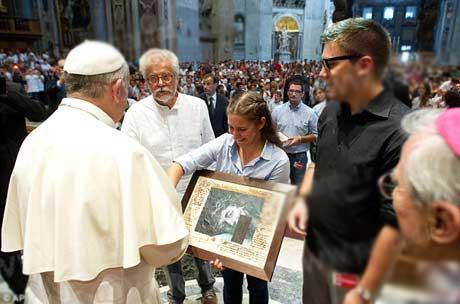 سنت شکنی  جنجالی پاپ فرانسیس که سوژه شد