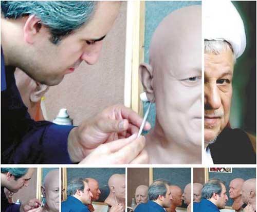 تصاویر جنجالی از مجسمه مومی هاشمی رفسنجانی