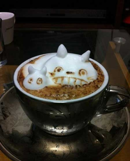 تزئین شگفت انگیز سه بعدی روی قهوه (عکس)