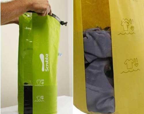 ماشین لباسشویی از نوع جیبی (عکس)