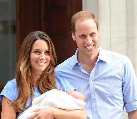 پیش بینی قیافه  كودكی و جوانی نوه  ملکه انگلستان  (عکس)